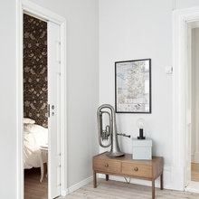 Фотография: Гостиная в стиле Скандинавский, Малогабаритная квартира, Квартира, Декор, Мебель и свет, Белый – фото на InMyRoom.ru