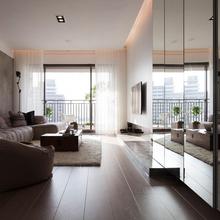 Фотография: Гостиная в стиле Современный, Малогабаритная квартира, Квартира, Дома и квартиры, Квартиры – фото на InMyRoom.ru