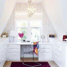 Фотография: Кабинет в стиле Скандинавский, Современный, Интерьер комнат, Мансарда – фото на InMyRoom.ru