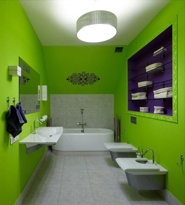 Фотография: Ванная в стиле Современный, Эклектика, Дом, Дома и квартиры, Проект недели – фото на InMyRoom.ru