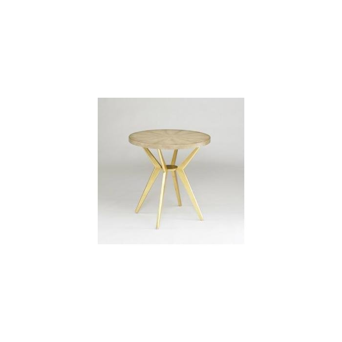 ODIN ROUND LAMP TABLE / IVORY TOP