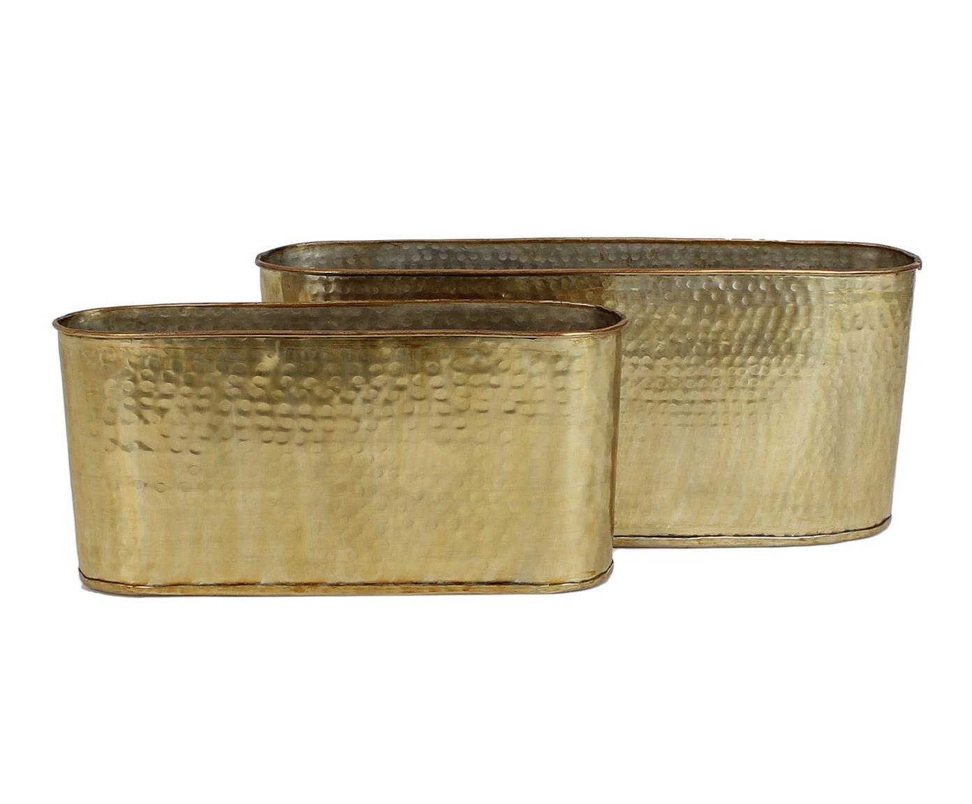 Набор из двух кашпо золотого цвета