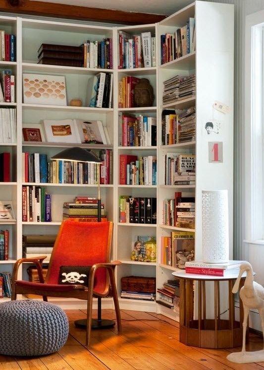 Фотография: Мебель и свет в стиле Прованс и Кантри, Лофт, Хранение, Стиль жизни, Советы, Библиотека – фото на InMyRoom.ru