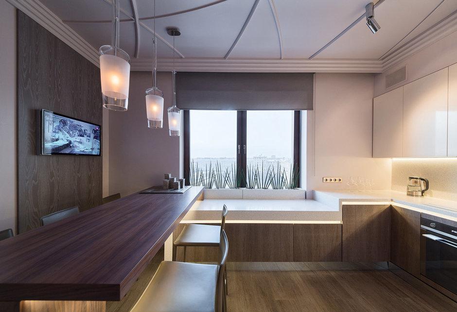 Фотография: Кухня и столовая в стиле Современный, Квартира, Дома и квартиры, Проект недели, Москва – фото на InMyRoom.ru