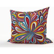 Декоративная подушка: Цветная пряжа