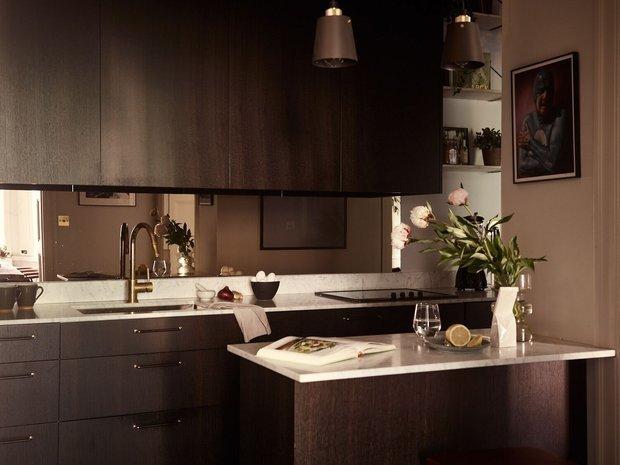 Фотография: Кухня и столовая в стиле Минимализм, Скандинавский, Современный, Декор интерьера, Квартира, Швеция, Зеленый, Бежевый, Коричневый, 4 и больше, Более 90 метров – фото на INMYROOM