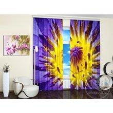 Фотошторы для гостиной: Фиолетовое цветение