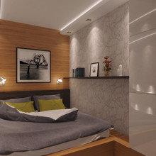 Фотография: Спальня в стиле Современный, Квартира, Дома и квартиры, Перепланировка – фото на InMyRoom.ru