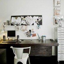 Фотография: Кабинет в стиле Скандинавский, Лофт, Малогабаритная квартира, Квартира, Цвет в интерьере, Дома и квартиры, Черный, Зеленый – фото на InMyRoom.ru