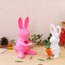 Диспенсер для скотча настольный bunny розовый