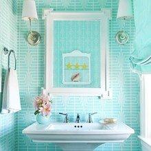 Фотография: Ванная в стиле Современный, Дом, Цвет в интерьере, Дома и квартиры – фото на InMyRoom.ru