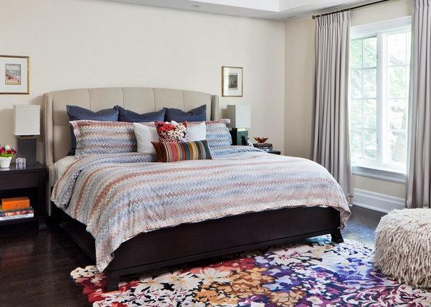 Фотография: Спальня в стиле Эклектика, Декор интерьера, Дом, Декор дома, Текстиль – фото на InMyRoom.ru