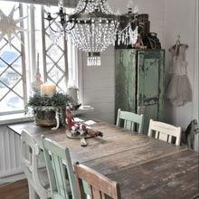 Фотография: Кухня и столовая в стиле Кантри, Интерьер комнат, Шебби-шик – фото на InMyRoom.ru