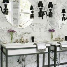 Фотография: Ванная в стиле Классический, Эклектика, Интерьер комнат, Декоративная штукатурка – фото на InMyRoom.ru