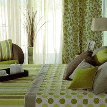Фотография: Спальня в стиле Современный, Восточный, Декор интерьера, Дизайн интерьера, Цвет в интерьере, Зеленый – фото на InMyRoom.ru