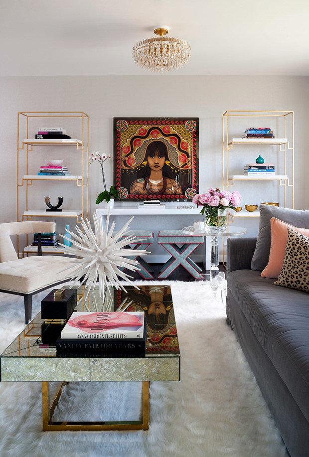 Фотография: Гостиная в стиле Эклектика, Декор интерьера, Квартира, США – фото на INMYROOM