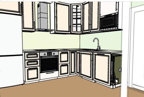 помощь в планировке кухни