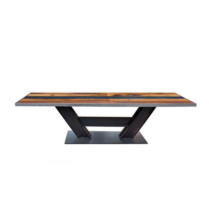 Обеденный стол Beam со столешницей из натурального дерева