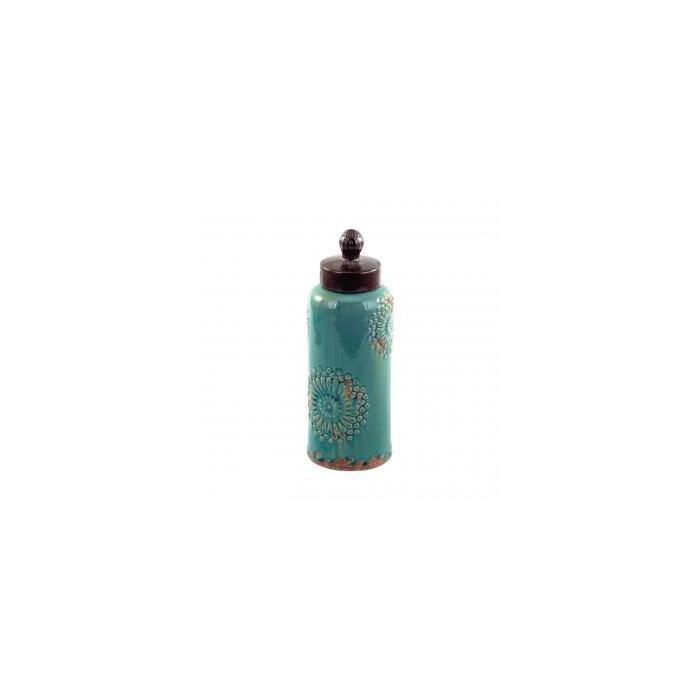 Банка с крышкой Turquoise Mehndi Stoneware Lidded Jar
