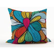Декоративная подушка: Цветные нити
