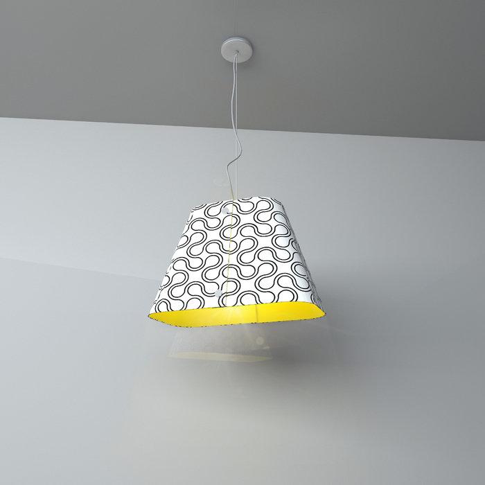 Подвесная люстра Lumier с глянцевым абажуром из пластика