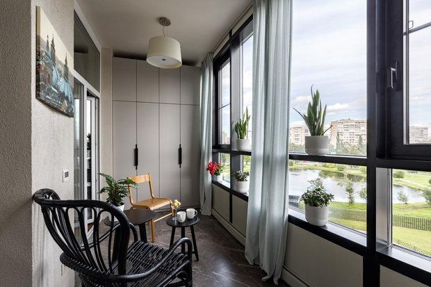 Фотография: Балкон в стиле Современный, Квартира, Проект недели, Санкт-Петербург, 3 комнаты, Более 90 метров, Наталья Орешкова – фото на INMYROOM