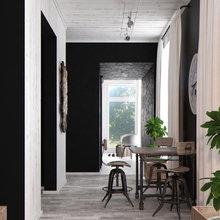 Фотография: Кухня и столовая в стиле Современный, Квартира, Дома и квартиры, Перепланировка, Переделка – фото на InMyRoom.ru