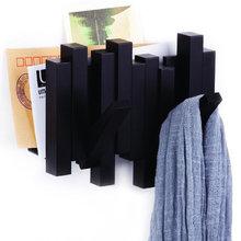 Газетница-вешалка sticks черная