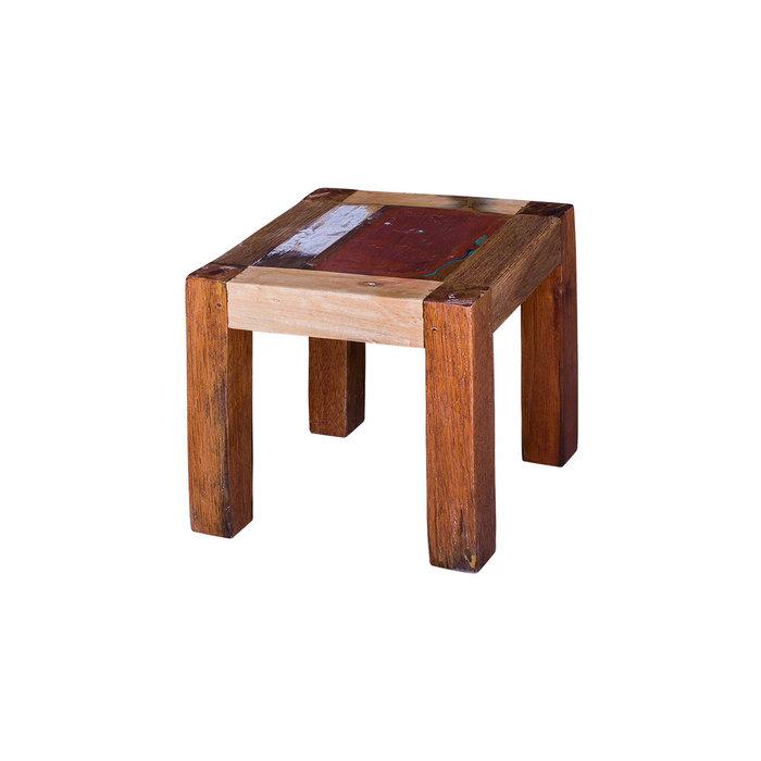"""Табурет """"Су Чжи"""" из массива древесины старого рыбацкого судна"""