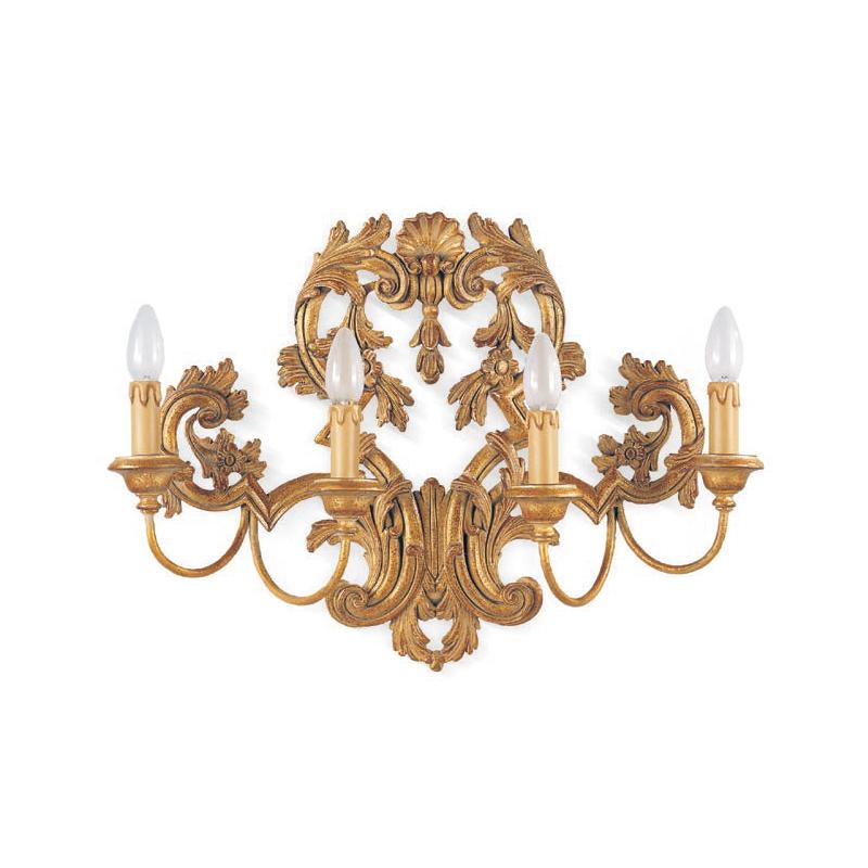 Купить Резное деревянное бра Roberto Giovannini серебрянное, inmyroom, Италия