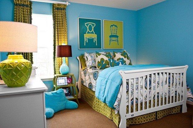 Фотография: Спальня в стиле Прованс и Кантри, Декор интерьера, Дизайн интерьера, Цвет в интерьере, Белый, Синий, Серый – фото на InMyRoom.ru