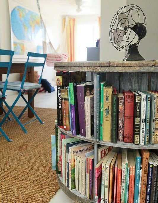 Фотография:  в стиле Лофт, Хранение, Стиль жизни, Советы, Библиотека – фото на InMyRoom.ru