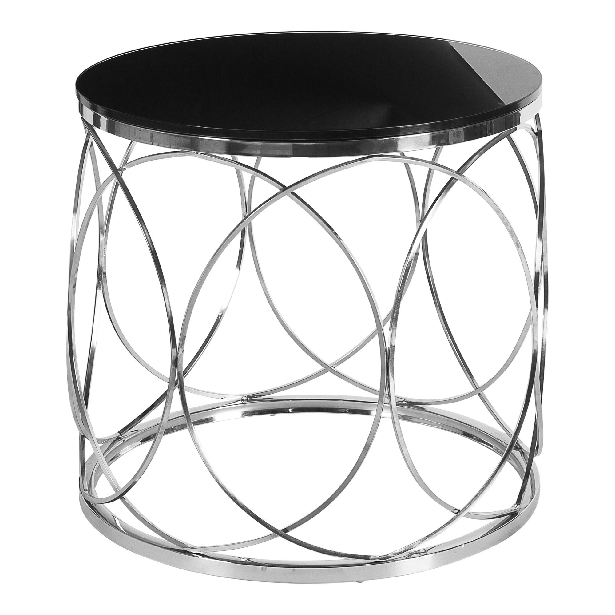Кофейный стол с черной столешницей