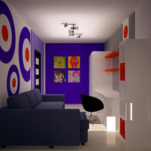 Фотография: Офис в стиле Современный, Дизайн интерьера, Цвет в интерьере, Советы, Поп-арт – фото на InMyRoom.ru