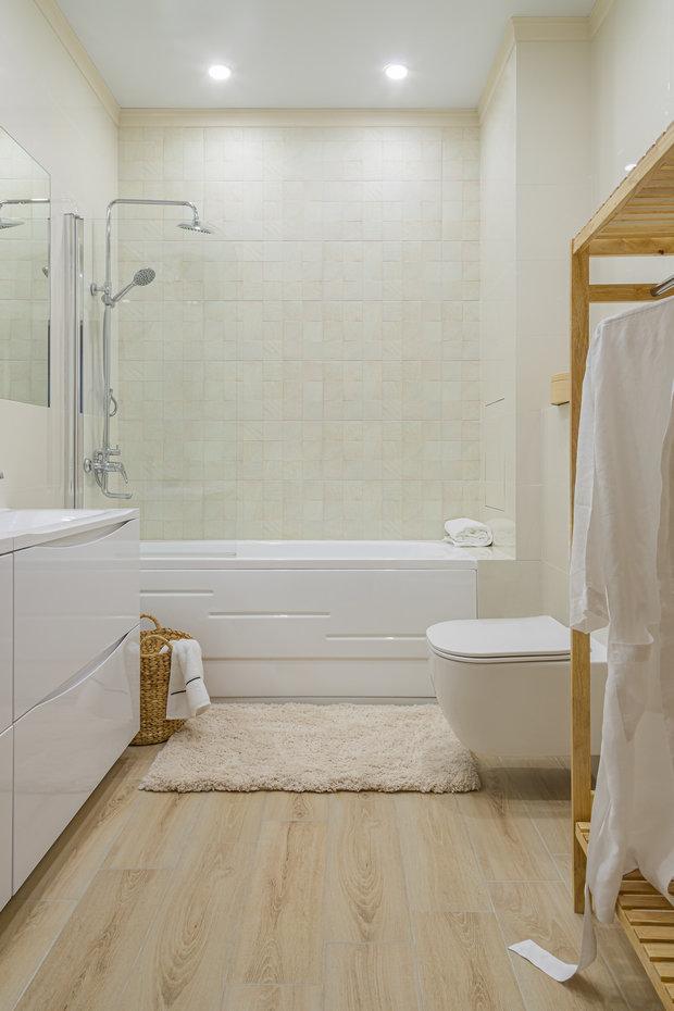 Фотография: Ванная в стиле Современный, Квартира, Проект недели, 3 комнаты, Алматы, Анна Аранович, Pinteriors – фото на INMYROOM