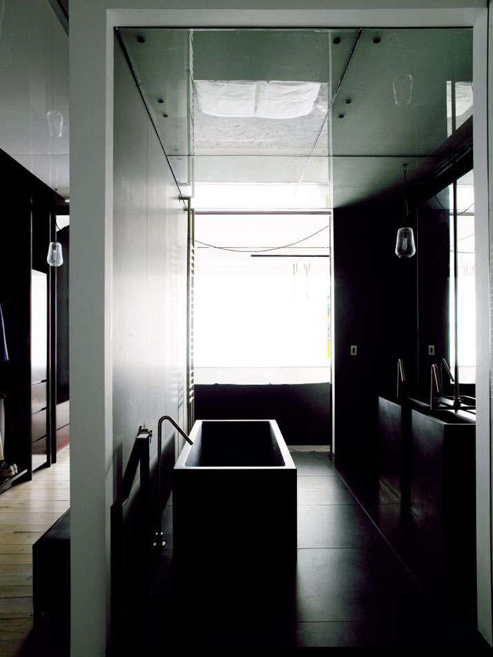 Фотография: Ванная в стиле Лофт, Квартира, Дома и квартиры, Проект недели, Индустриальный – фото на InMyRoom.ru