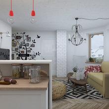 Фото из портфолио Малогабаритная квартира в стиле IKEA – фотографии дизайна интерьеров на InMyRoom.ru