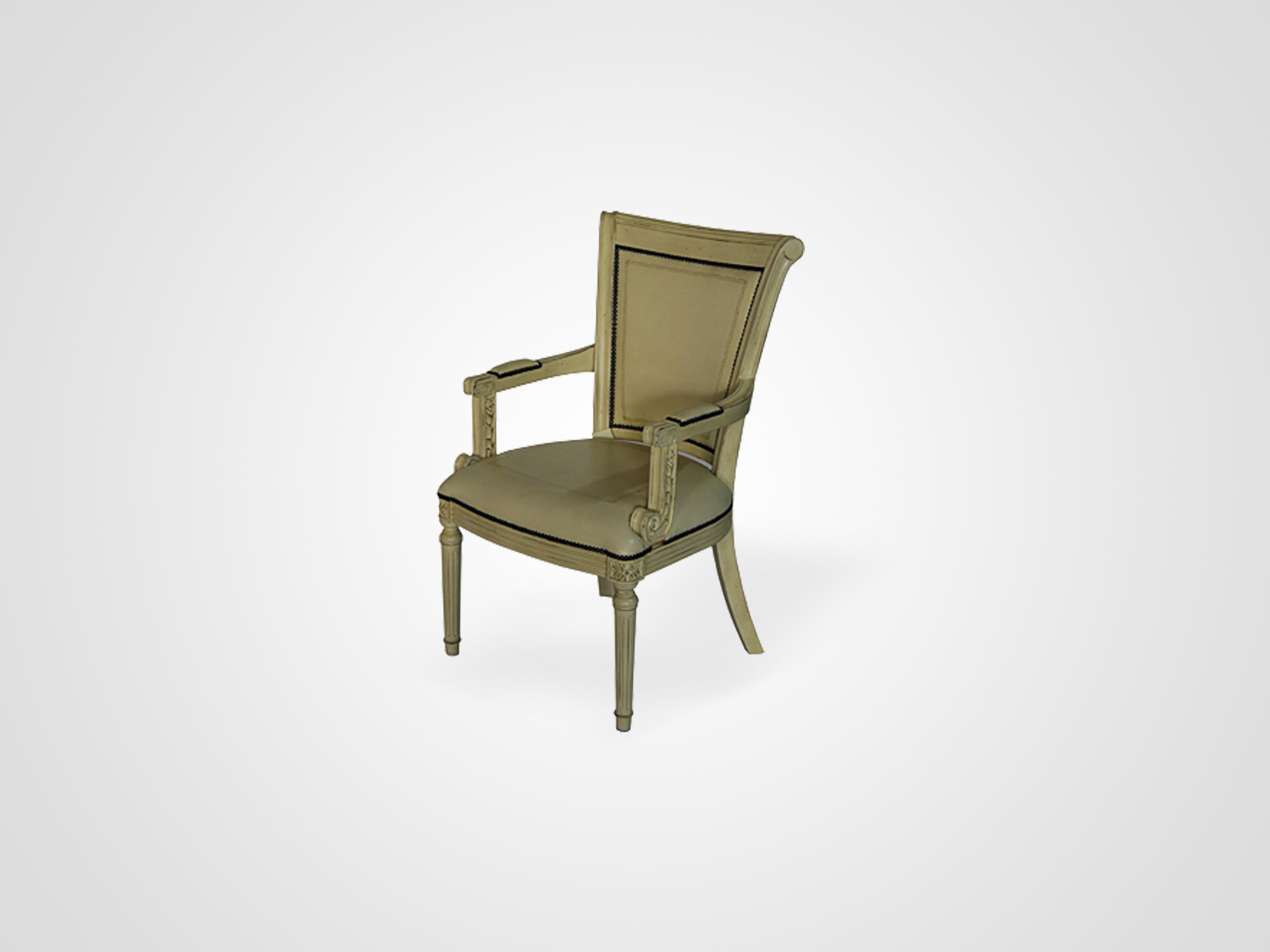 Купить со скидкой Кресло из массива дерева эвкалипт с обивкой из экокожи