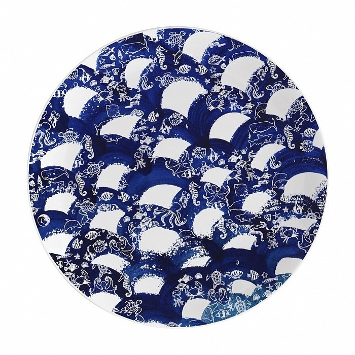 Тарелка столовая Волны