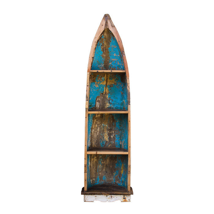 """Стеллаж """"Босх"""" из старой рыбацкой лодки"""