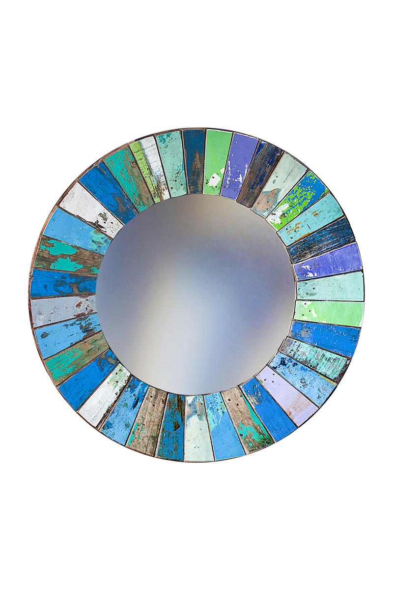 Купить Настенное зеркало Колобок круглое, inmyroom, Индонезия