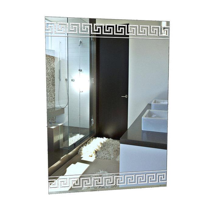 """Зеркало вертикальное с белым принтом """"Афины 1"""""""