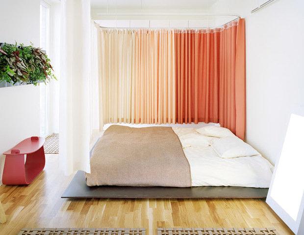 Фотография: Спальня в стиле Современный, Декор интерьера, Текстиль, Шторы – фото на InMyRoom.ru
