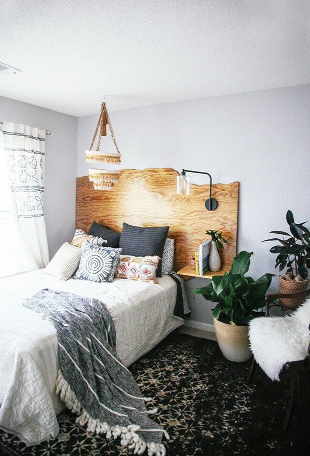 Фотография: Спальня в стиле Прованс и Кантри, Эко, Декор интерьера, дерево в интерьере, тренды 2019 – фото на INMYROOM