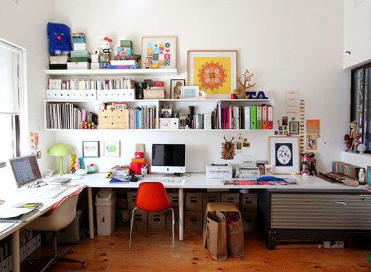 Фотография: Офис в стиле Скандинавский, Кабинет, Интерьер комнат, Системы хранения – фото на INMYROOM