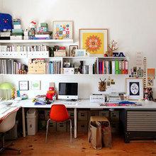 Фотография: Офис в стиле Скандинавский, Кабинет, Интерьер комнат, Системы хранения – фото на InMyRoom.ru