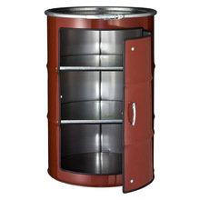 Бочка-шкаф с дверью и полками L