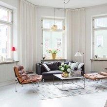 Фотография: Гостиная в стиле Скандинавский, Малогабаритная квартира – фото на InMyRoom.ru