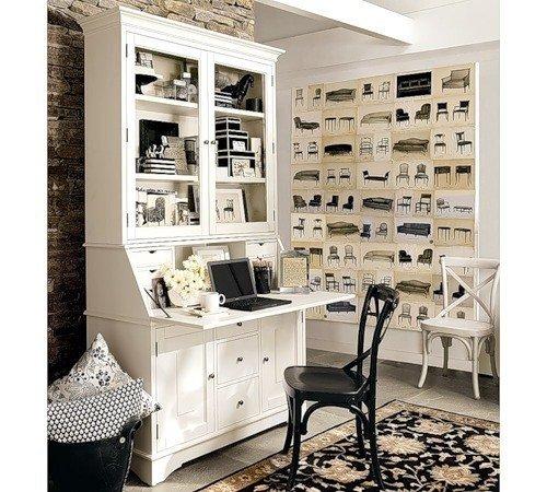 Фотография: Кабинет в стиле Прованс и Кантри, Дом, Дома и квартиры, Стол – фото на InMyRoom.ru