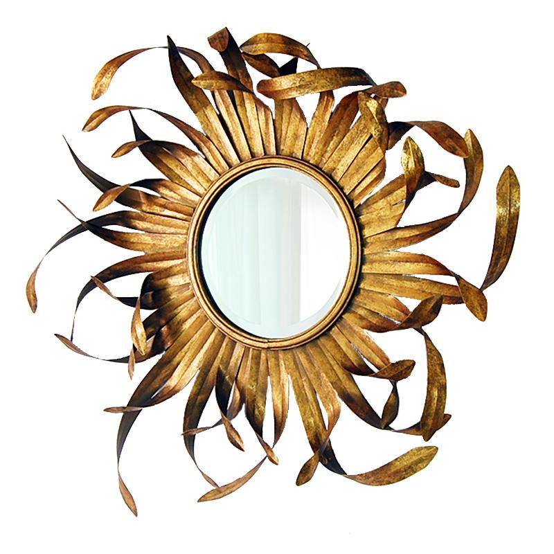 Купить Настенное зеркало Hloya в декоративной раме золотого цвета, inmyroom, Китай